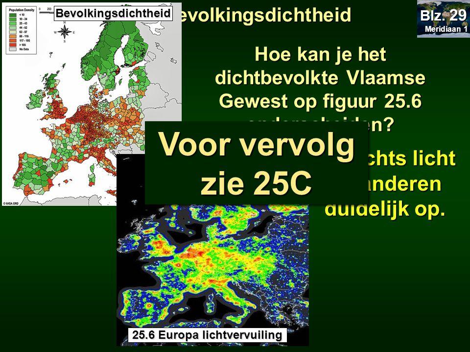 's Nachts licht Vlaanderen duidelijk op. 25.6 Europa lichtvervuiling