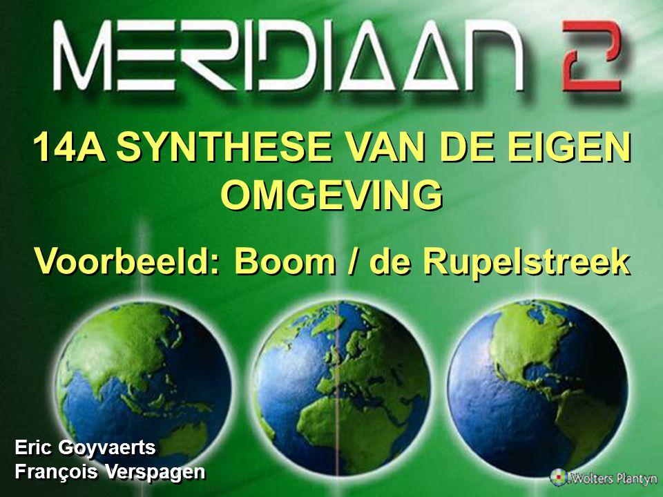 14A SYNTHESE VAN DE EIGEN OMGEVING Voorbeeld: Boom / de Rupelstreek