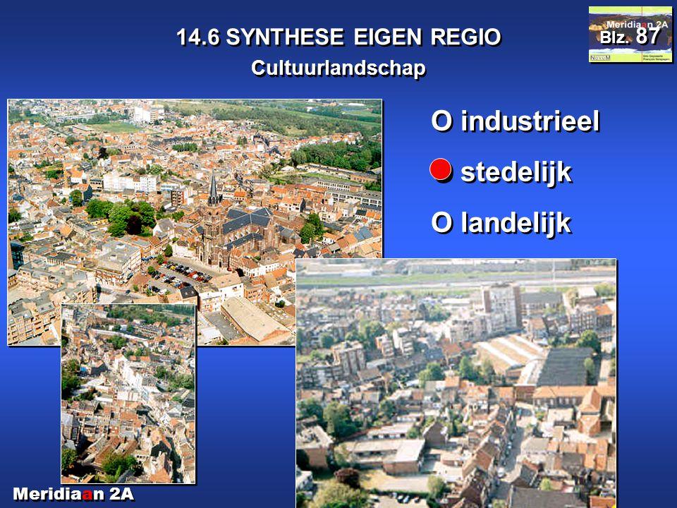 O industrieel O stedelijk O landelijk 14.6 SYNTHESE EIGEN REGIO