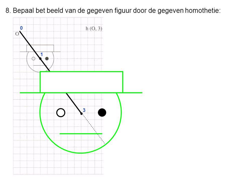 8. Bepaal bet beeld van de gegeven figuur door de gegeven homothetie: