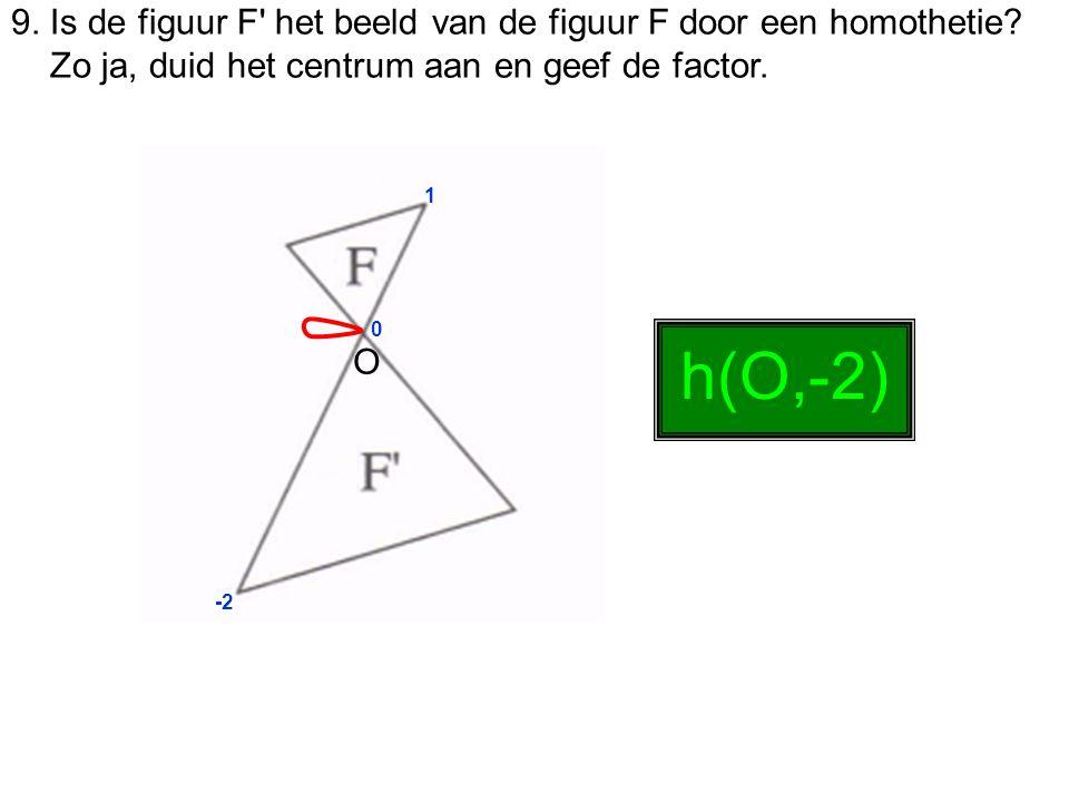 9. Is de figuur F het beeld van de figuur F door een homothetie