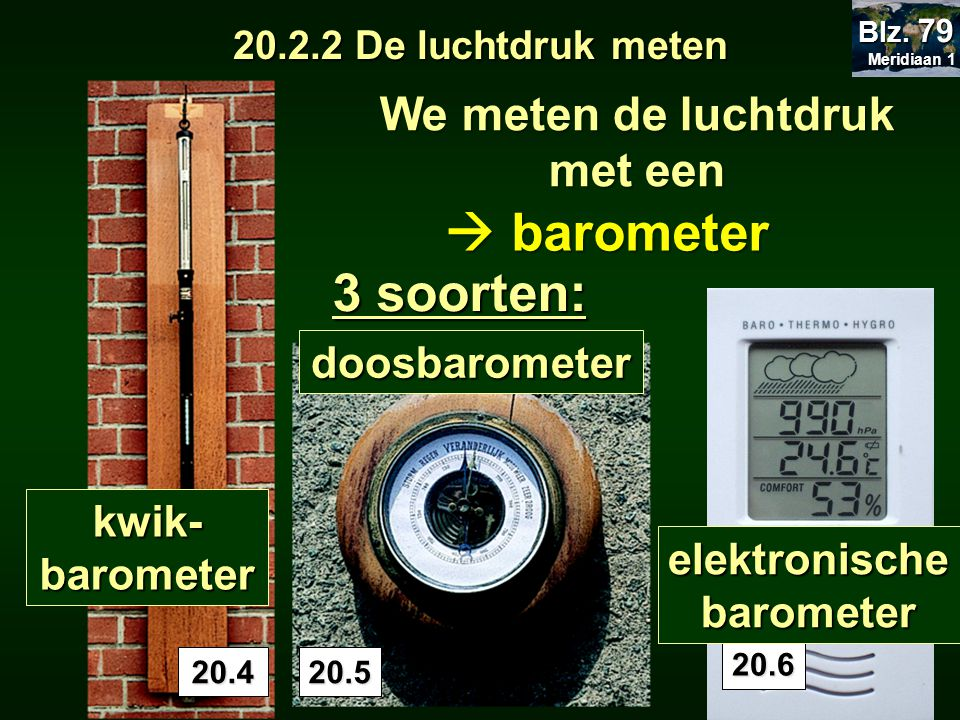 We meten de luchtdruk met een elektronische barometer