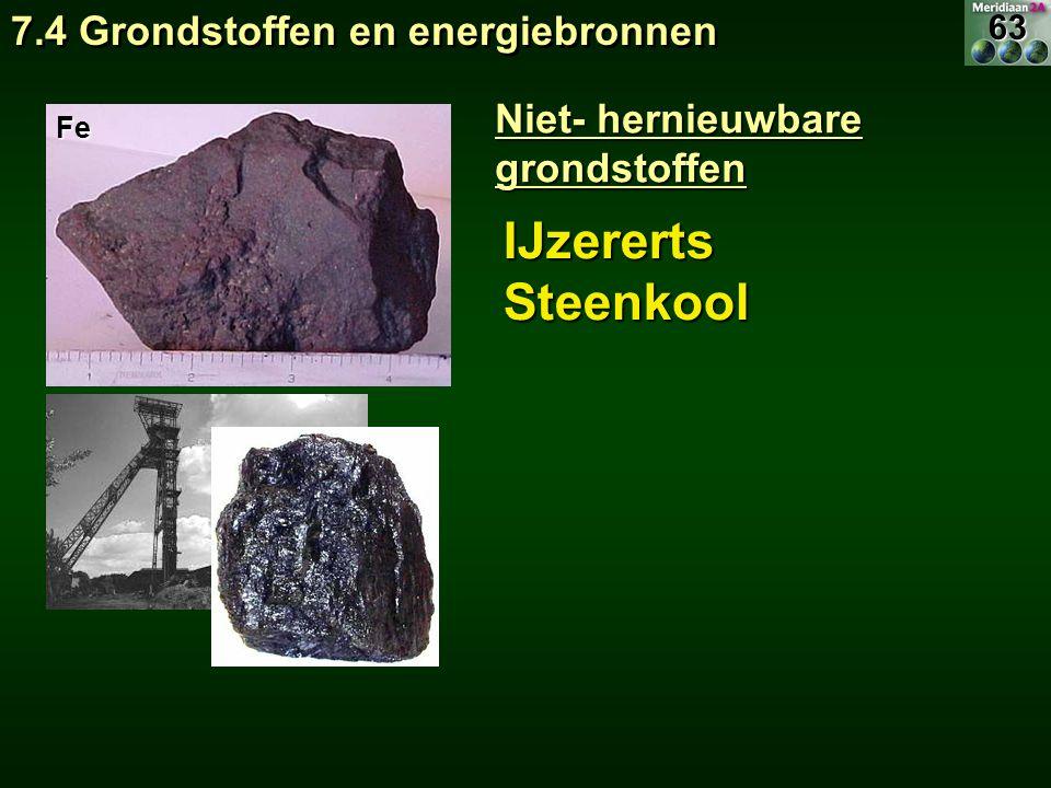 IJzererts Steenkool 7.4 Grondstoffen en energiebronnen