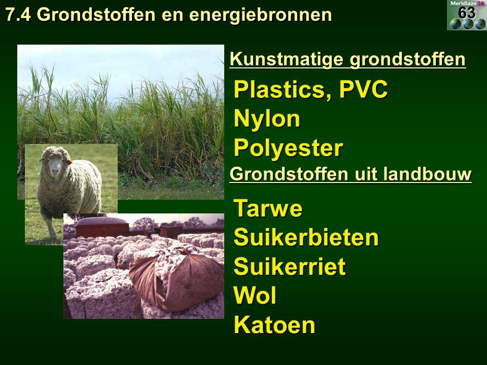 Plastics, PVC Nylon Polyester Tarwe Suikerbieten Suikerriet Wol Katoen