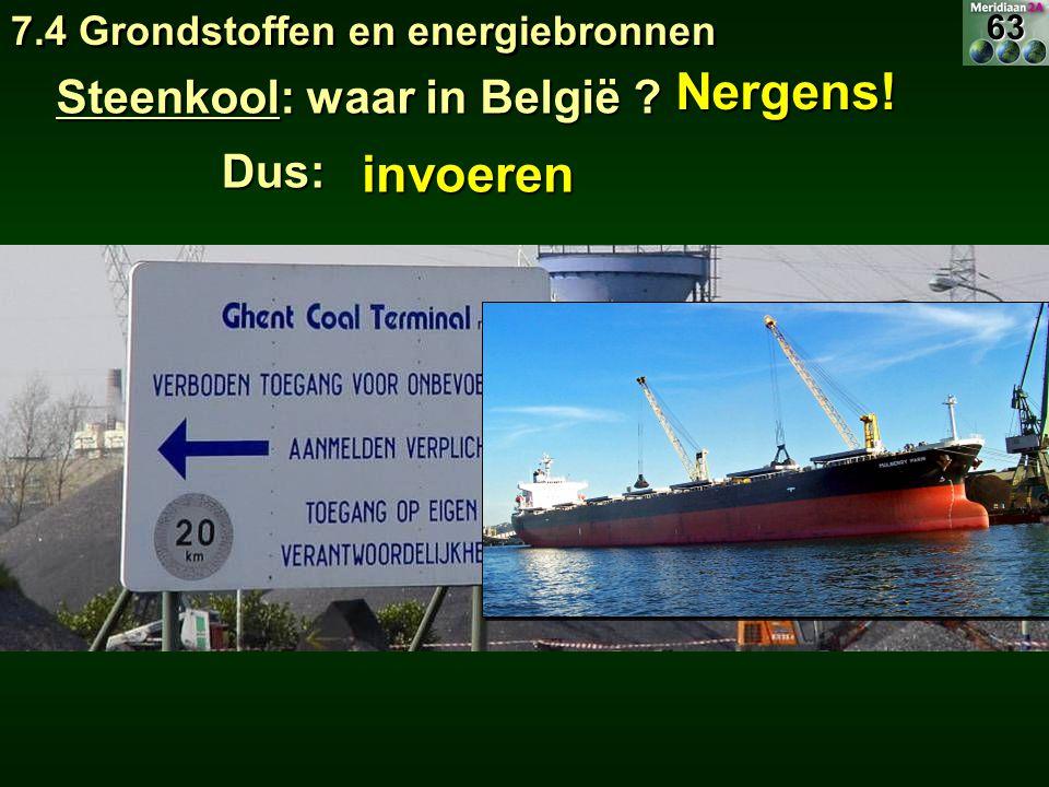 Nergens! invoeren Steenkool: waar in België Dus: