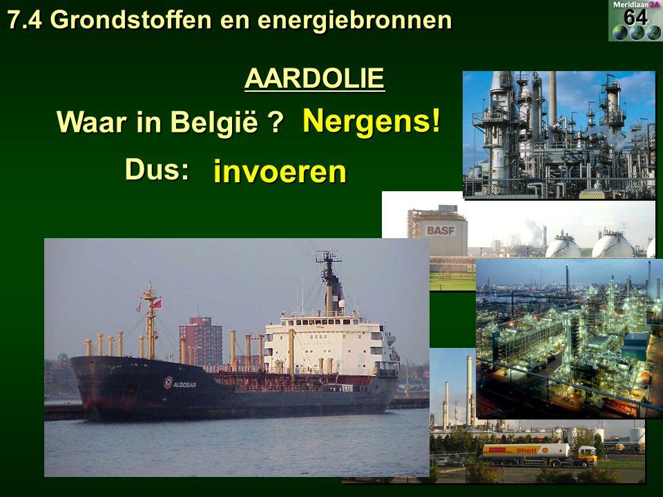 Nergens! invoeren Waar in België Dus: AARDOLIE