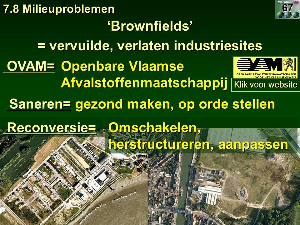 = vervuilde, verlaten industriesites