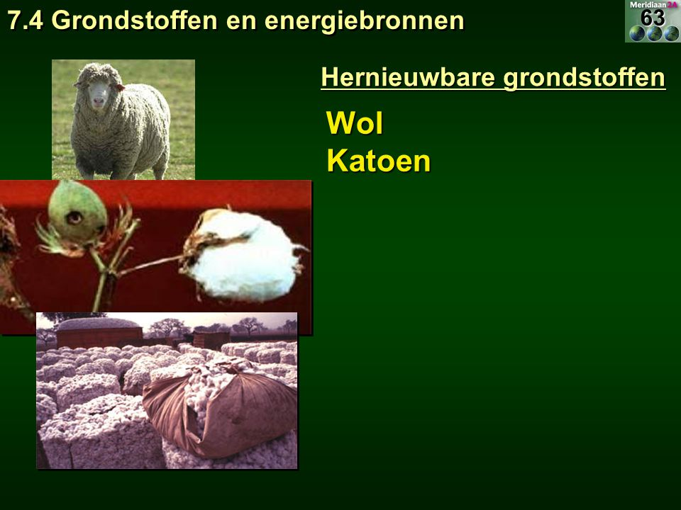Wol Katoen 7.4 Grondstoffen en energiebronnen