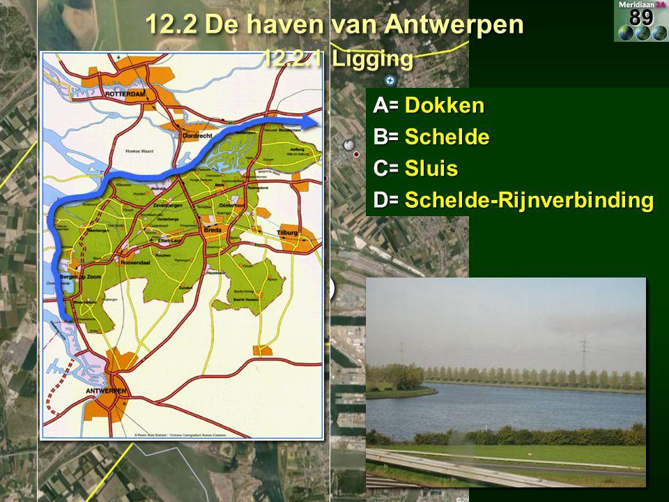 12.2 De haven van Antwerpen 12.2.1 Ligging D 89 D C A= Dokken B=