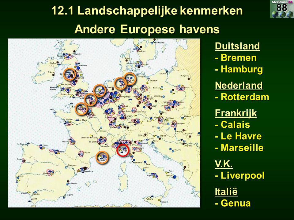 12.1 Landschappelijke kenmerken Andere Europese havens