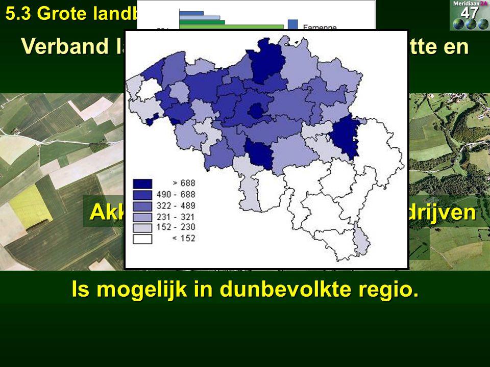 Verband landbouwtype, bedrijfsgrootte en bevolkingsdichtheid