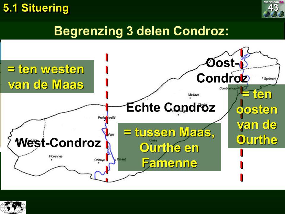 Begrenzing 3 delen Condroz: Arceer de Condroz