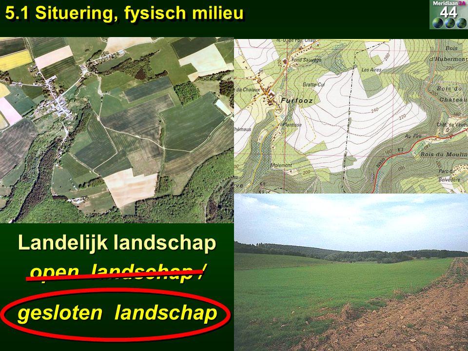 Landelijk landschap open landschap / gesloten landschap