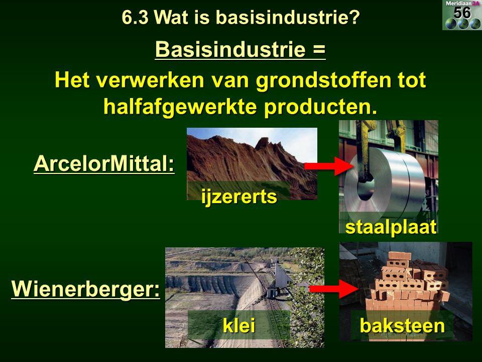 Het verwerken van grondstoffen tot halfafgewerkte producten.