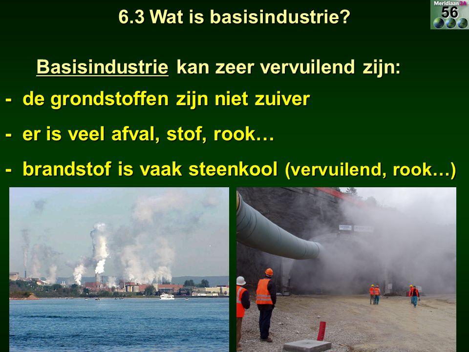 Basisindustrie kan zeer vervuilend zijn:
