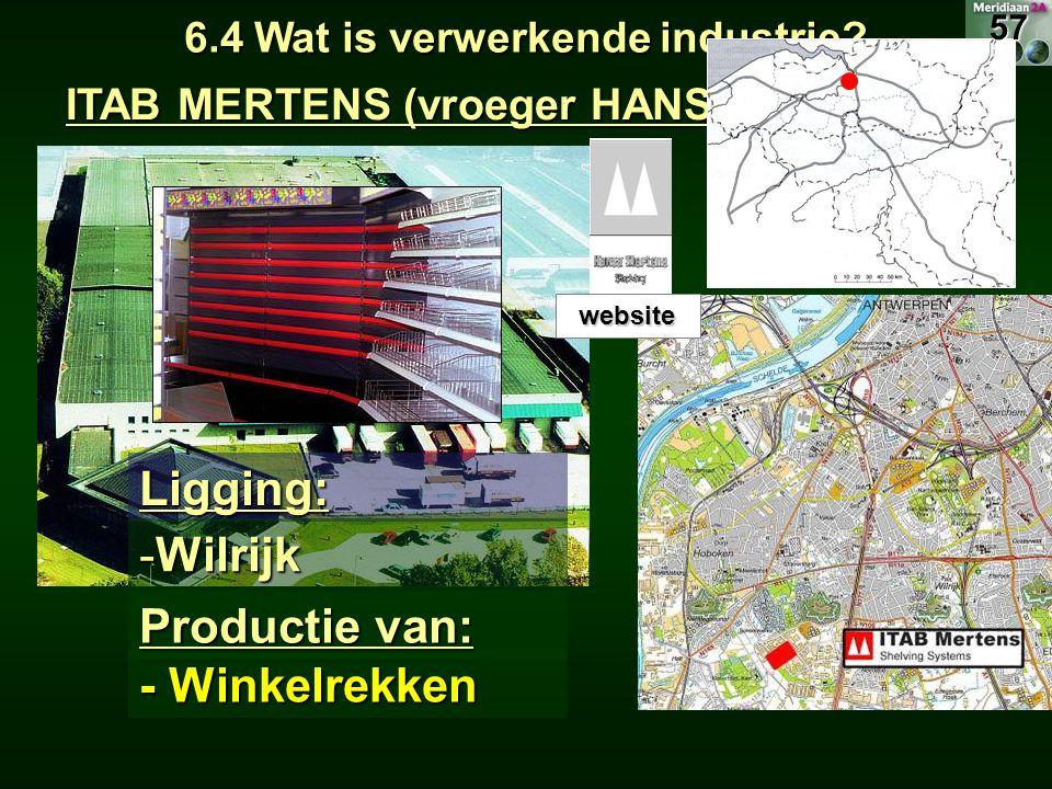 6.4 Wat is verwerkende industrie ITAB MERTENS (vroeger HANSA MERTENS)