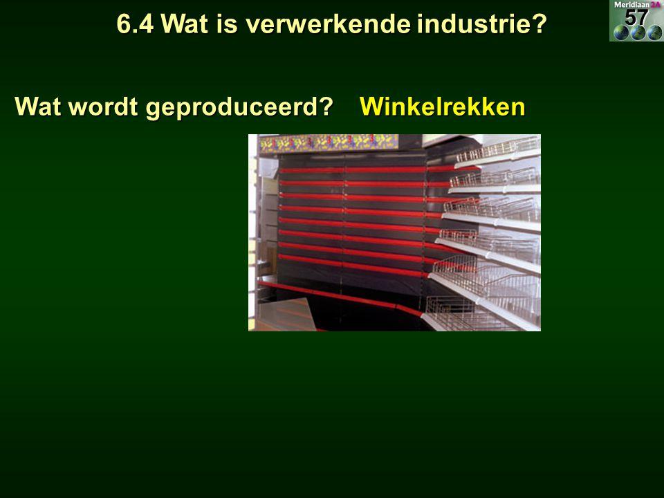 6.4 Wat is verwerkende industrie