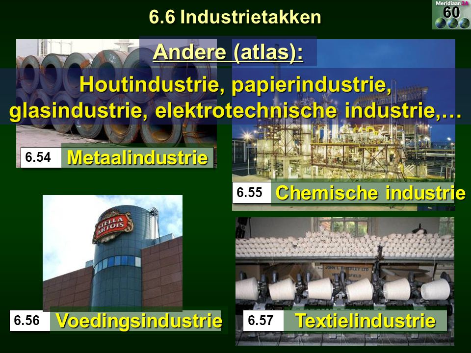 6.6 Industrietakken 60. Andere (atlas): Houtindustrie, papierindustrie, glasindustrie, elektrotechnische industrie,…