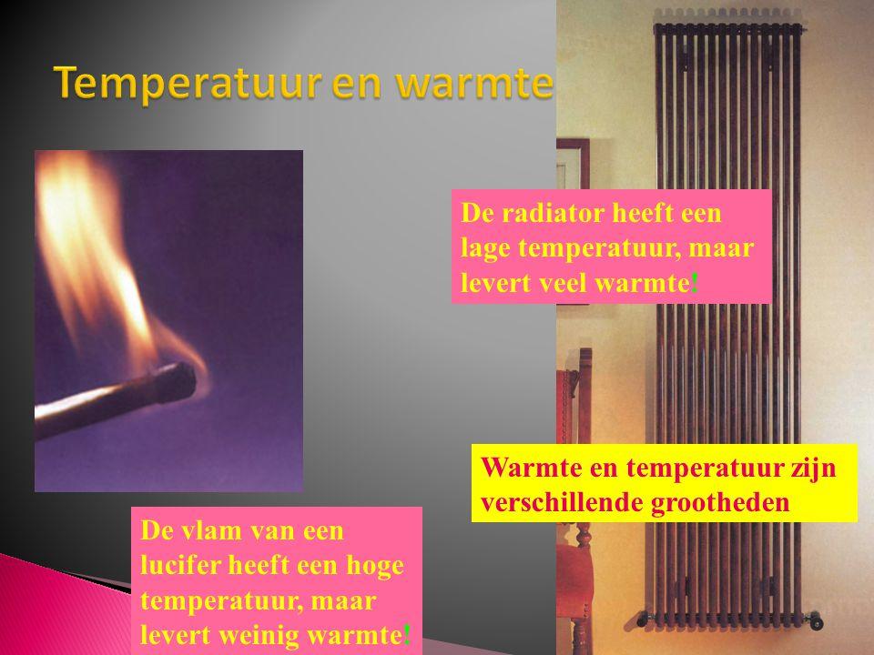 Temperatuur en warmtehoeveelheid