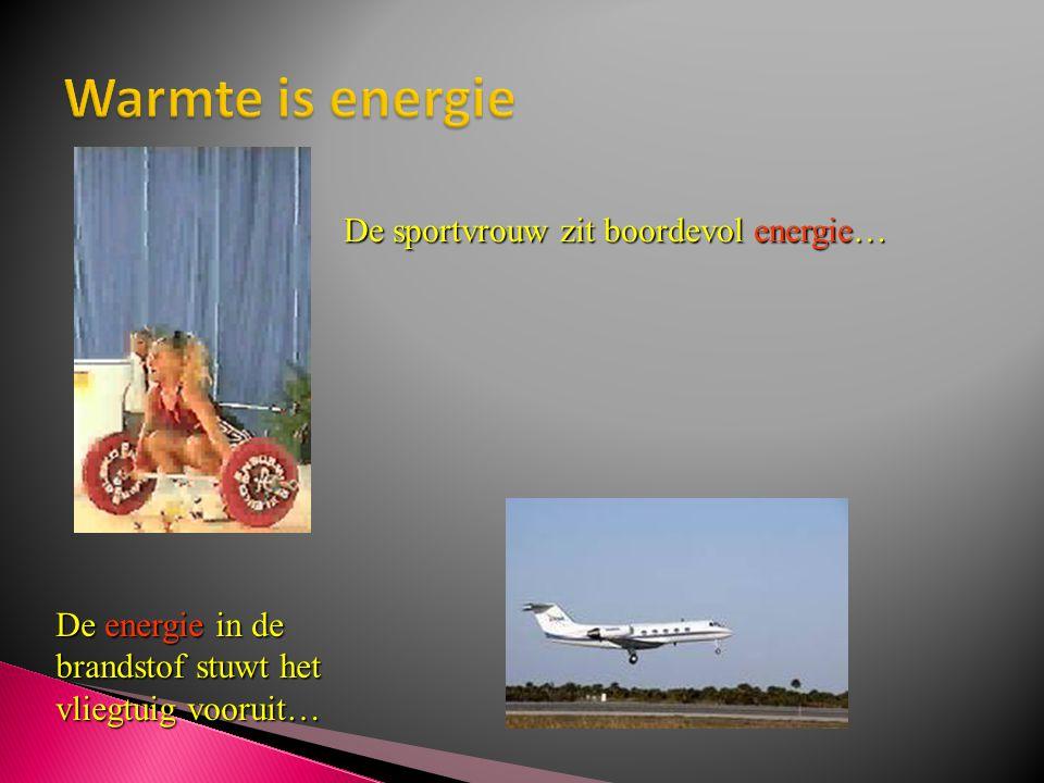 Warmte is energie De sportvrouw zit boordevol energie…