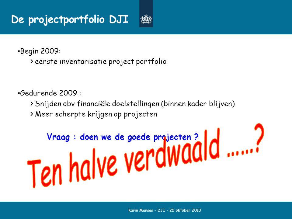 De projectportfolio DJI