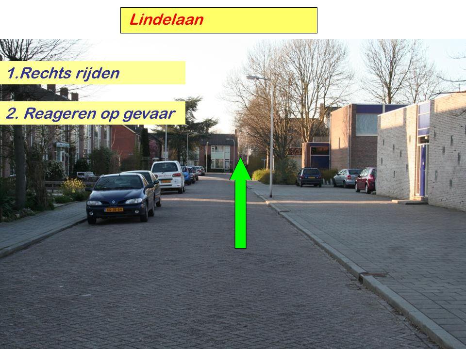Lindelaan 1.Rechts rijden 2. Reageren op gevaar