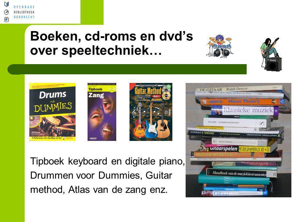 Boeken, cd-roms en dvd's over speeltechniek…