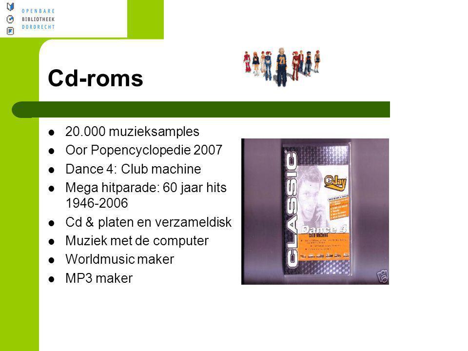 Cd-roms 20.000 muzieksamples Oor Popencyclopedie 2007