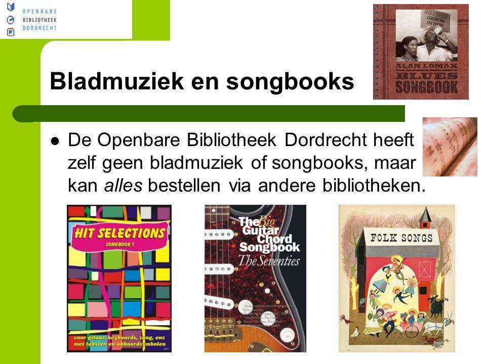 Bladmuziek en songbooks