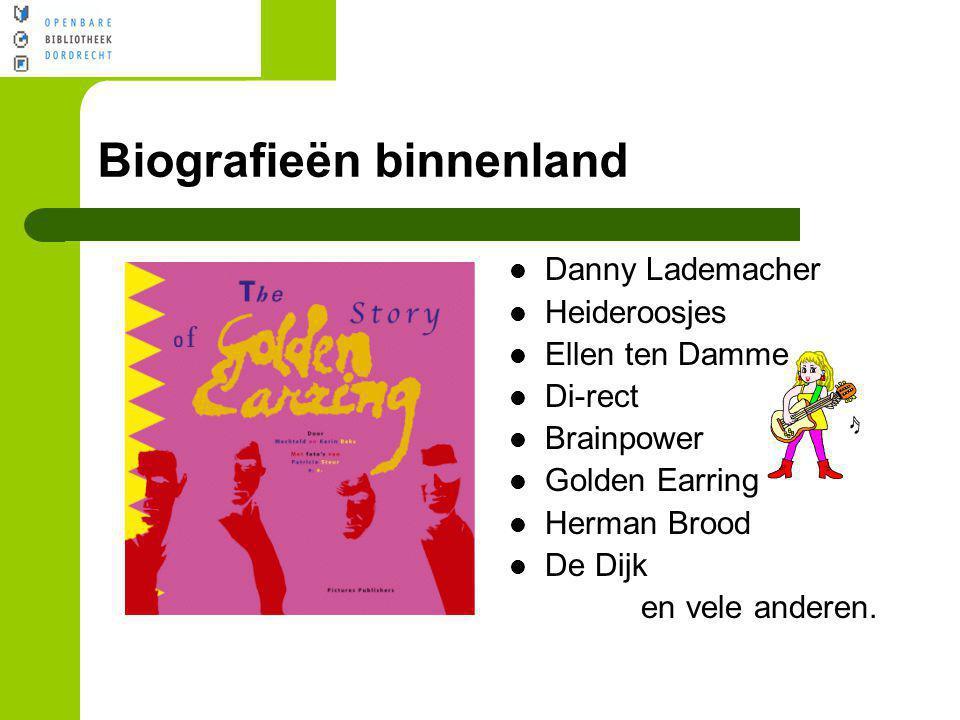 Biografieën binnenland