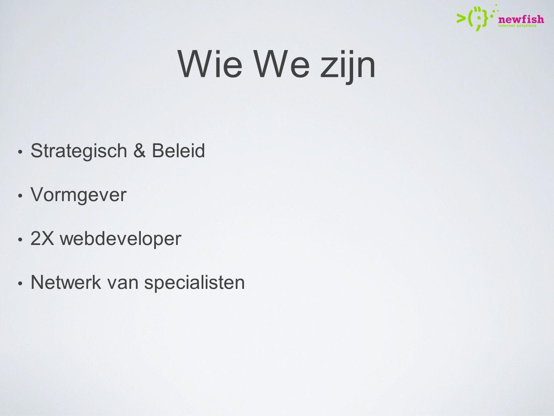 Wie We zijn Strategisch & Beleid Vormgever 2X webdeveloper