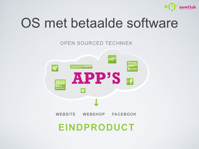 OS met betaalde software