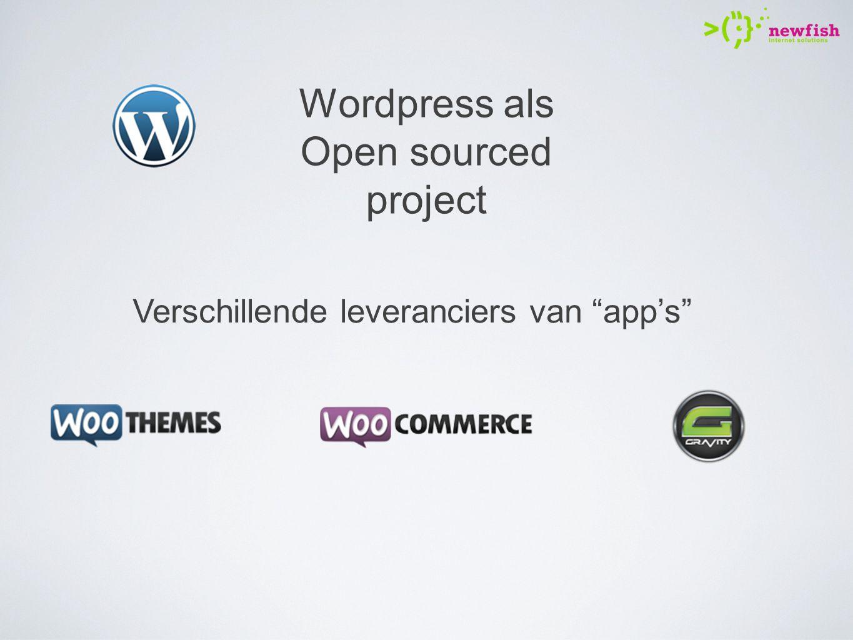 Verschillende leveranciers van app's