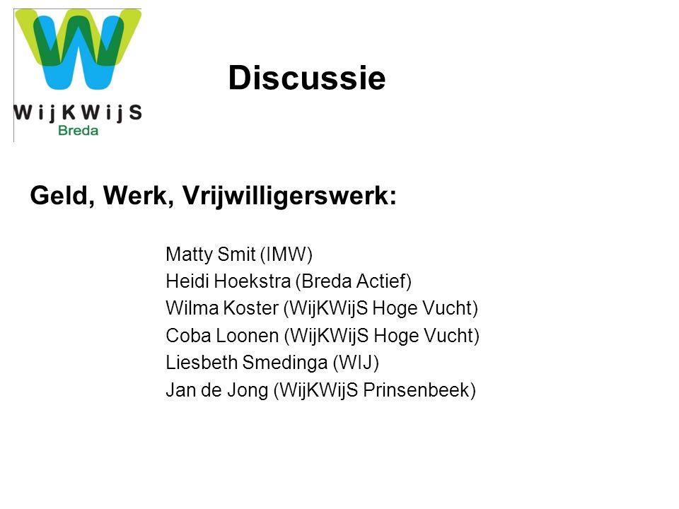 Discussie Geld, Werk, Vrijwilligerswerk: Matty Smit (IMW)