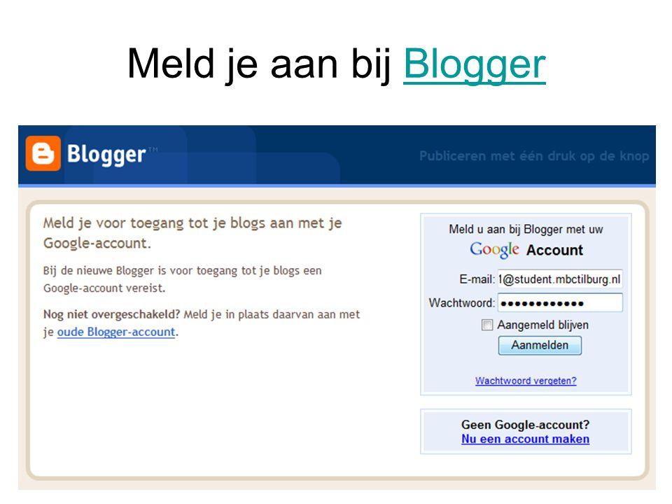 Meld je aan bij Blogger