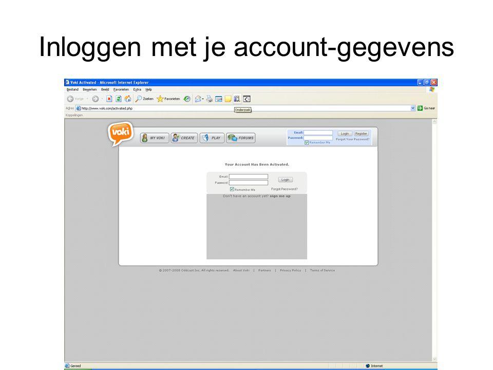 Inloggen met je account-gegevens