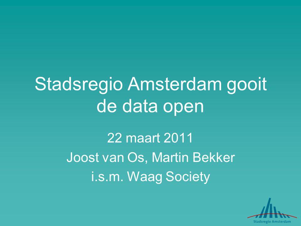 Stadsregio Amsterdam gooit de data open