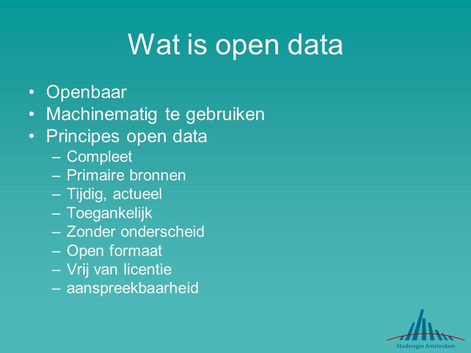 Wat is open data Openbaar Machinematig te gebruiken