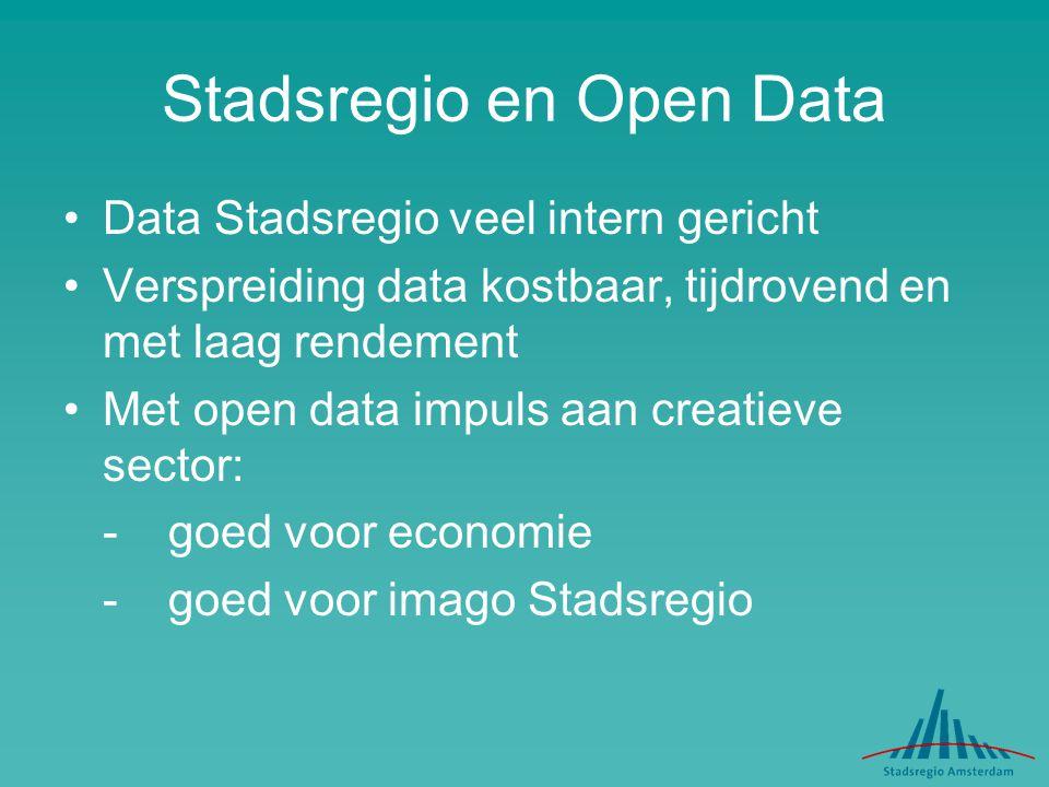 Stadsregio en Open Data