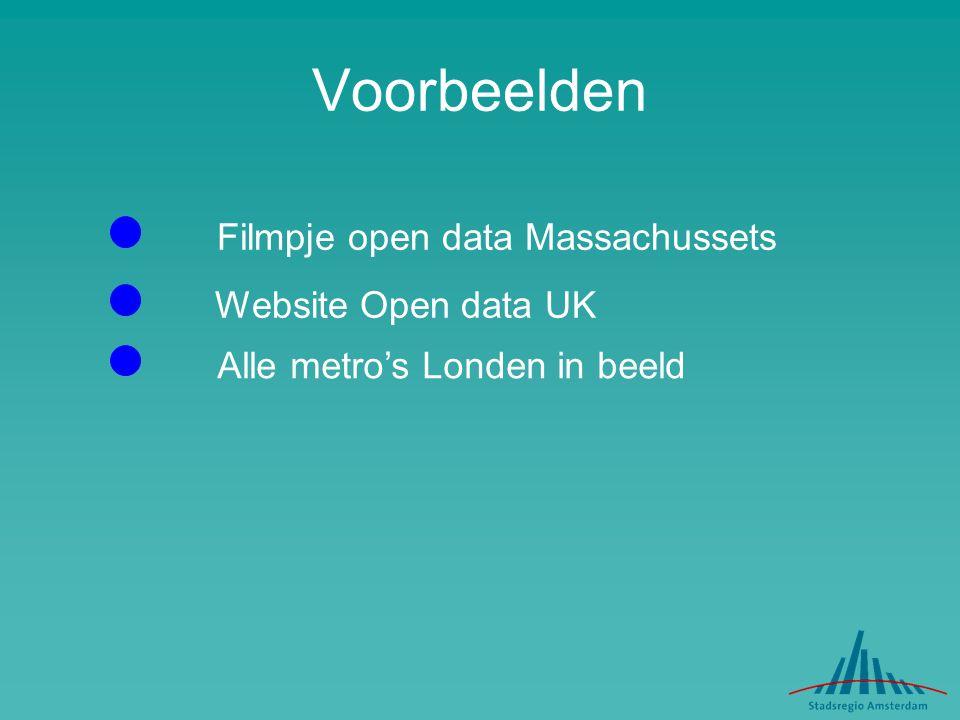 Voorbeelden Filmpje open data Massachussets Website Open data UK