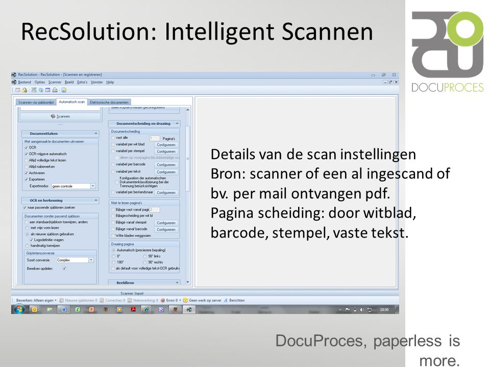 RecSolution: Intelligent Scannen