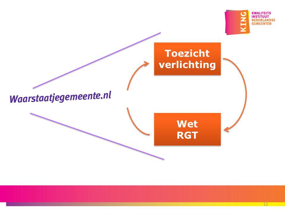 Toezicht verlichting Wet RGT