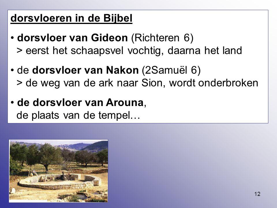 dorsvloeren in de Bijbel
