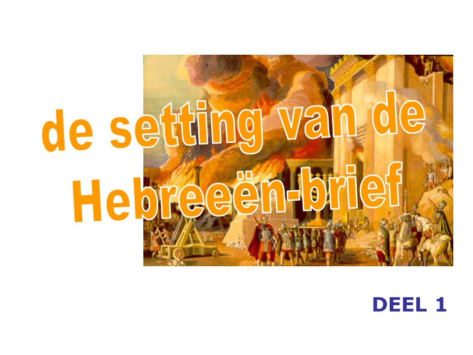 de setting van de Hebreeën-brief