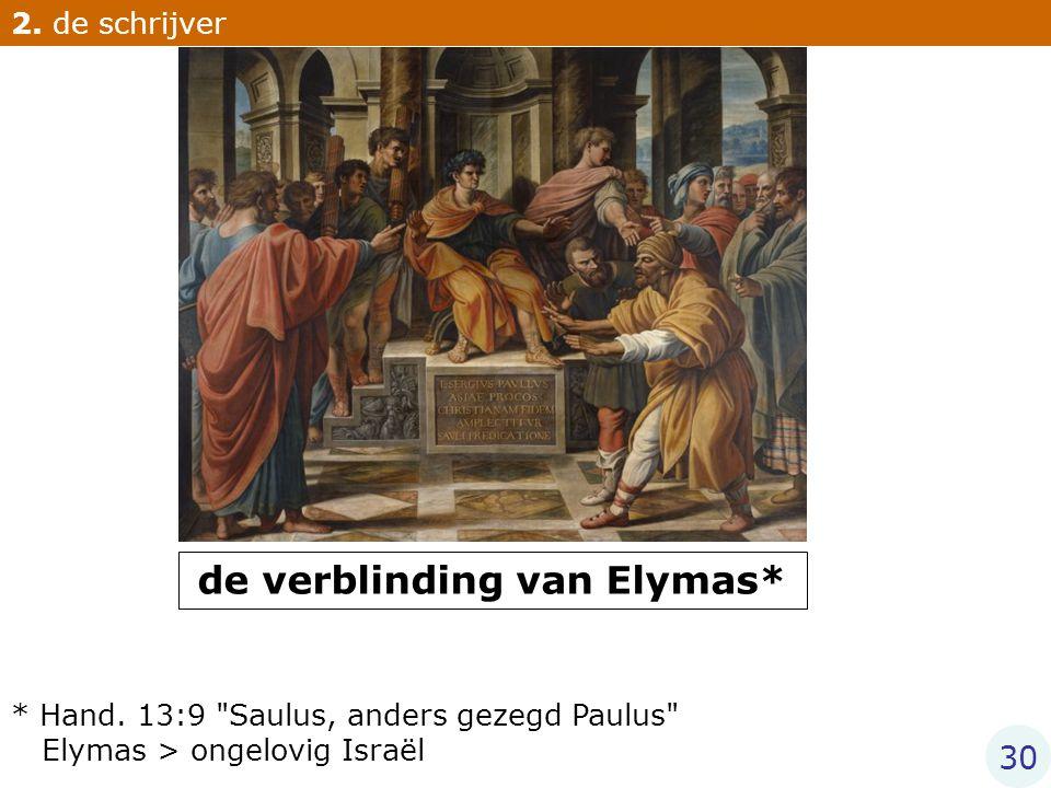 de verblinding van Elymas*