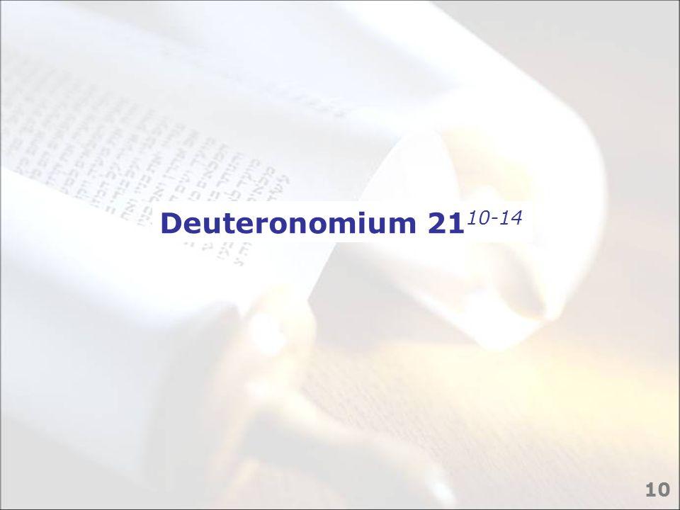 Deuteronomium 2110-14 10