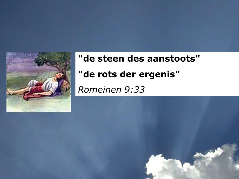 de steen des aanstoots de rots der ergenis Romeinen 9:33