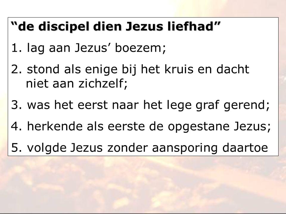 de discipel dien Jezus liefhad