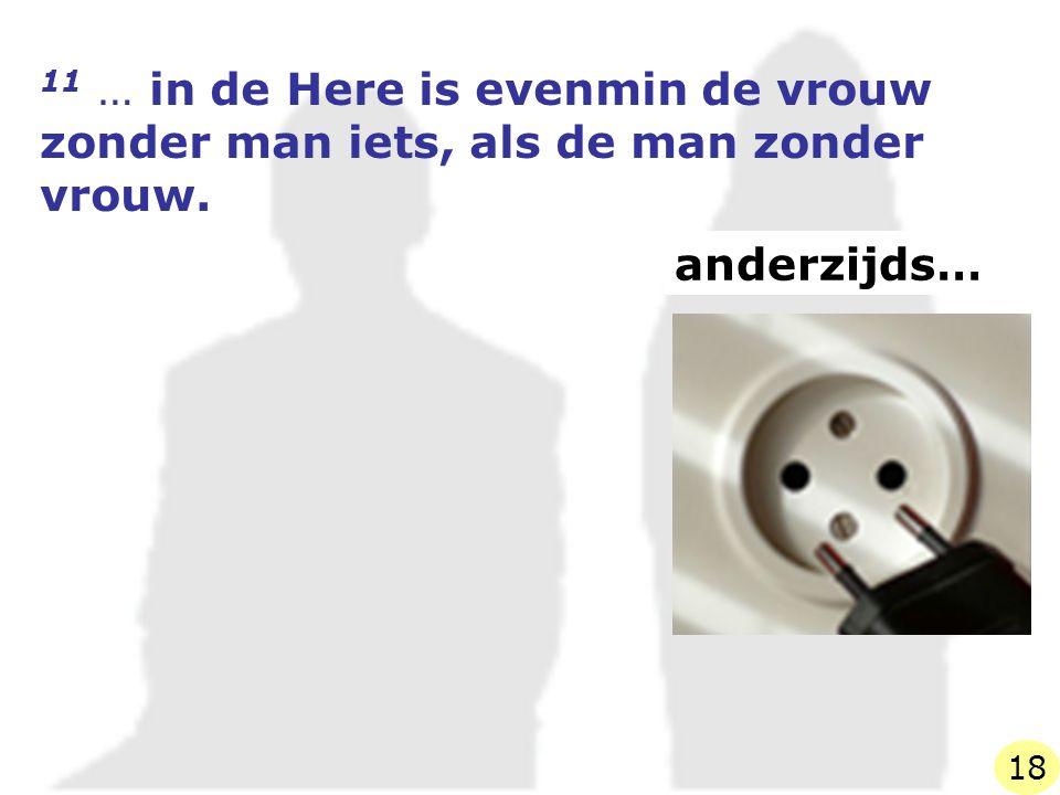 11 … in de Here is evenmin de vrouw zonder man iets, als de man zonder vrouw.