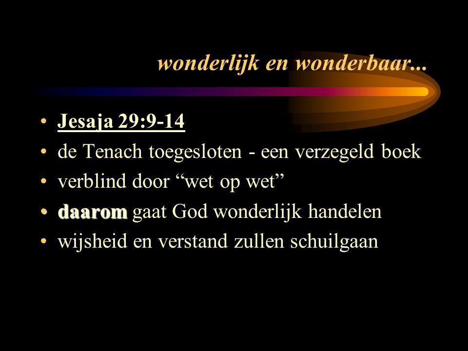 wonderlijk en wonderbaar...